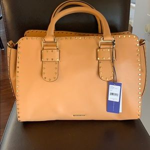 NWT tan  Rebecca minkoff largr satchel $475 retail